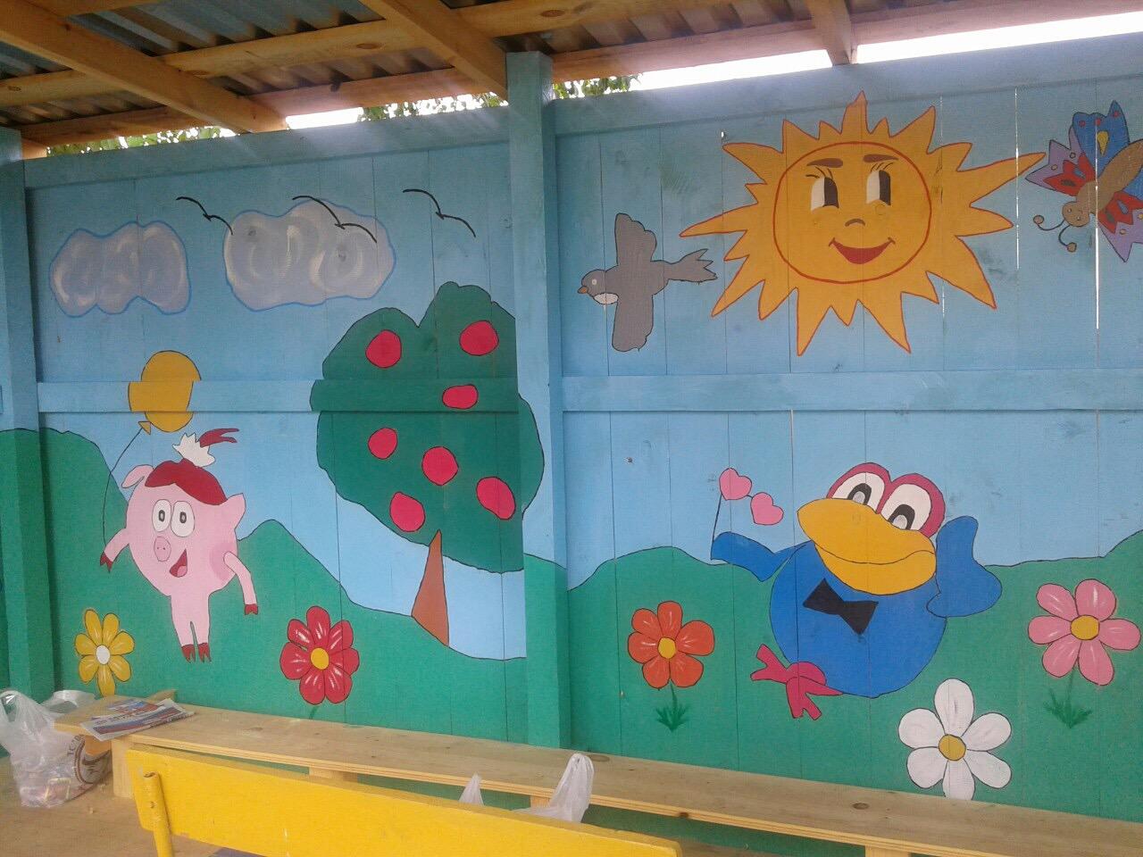 Как можно покрасить беседку в детском саду своими руками 80